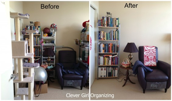 Before and After:  Home Office and Crafting Room