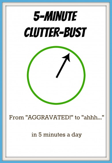 5 Minute Clutter-Bust.  From AGGRAVATED! to Ahhhh. . .  in Five Minutes A Day.