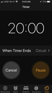 20 minute timer iphone