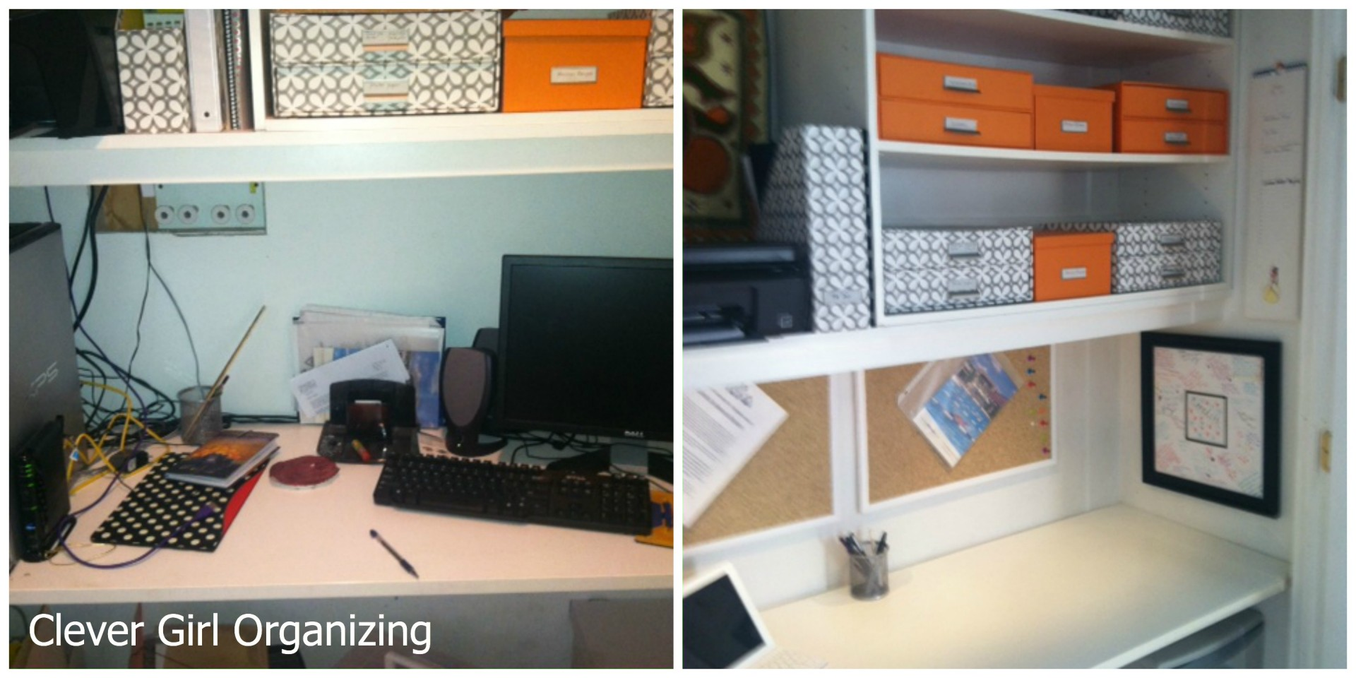before and after desk