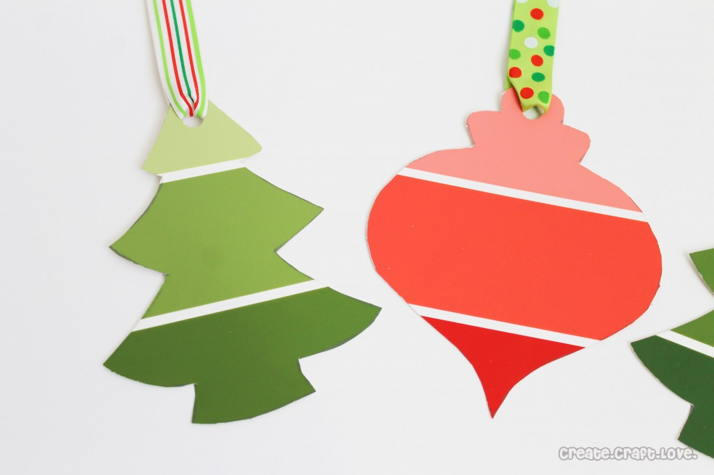 http://www.createcraftlove.com/2012/12/paint-chip-gift-tags.html
