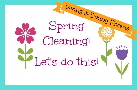 Spring Cleaning Banner Living Dining room