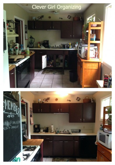 wide before and after sink wall