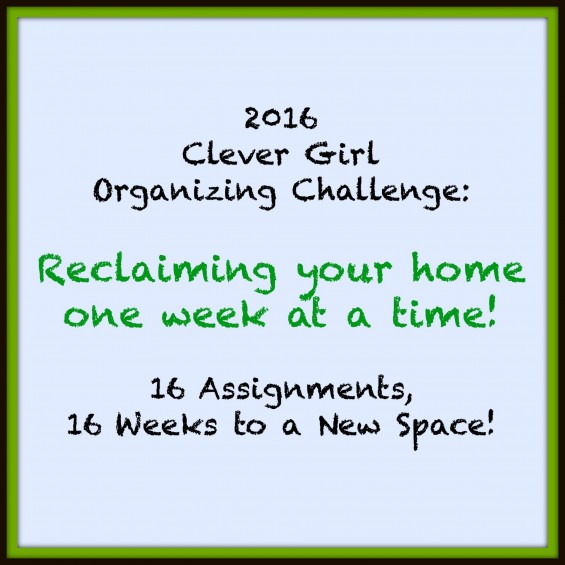 Week 8 of the Clever Girl Organizing Challenge:  All the Linens!