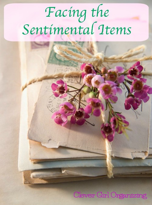 Facing Sentimental Items While Trying to Get Organized