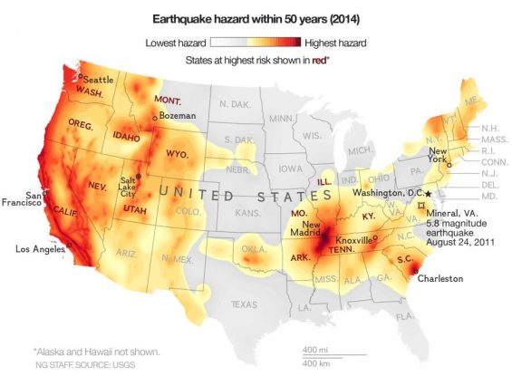 Earthquake hazard - USGS