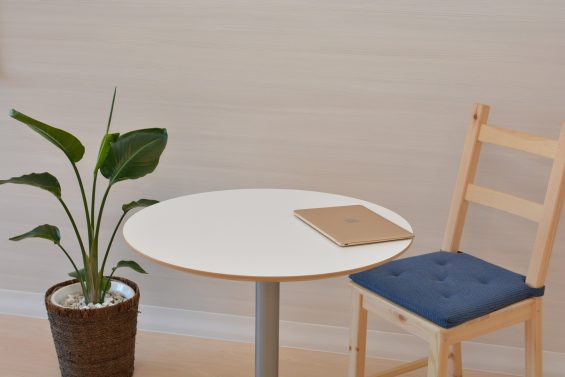 minimalism chair and table