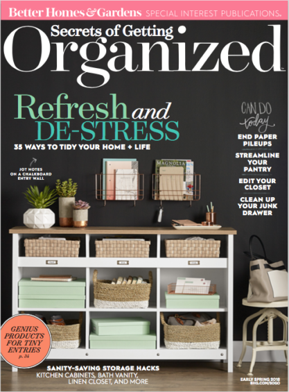 Secrets of Getting Organized Magazine Cover, early spring issue