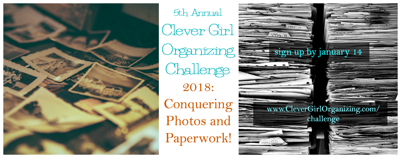 2018 Clever Girl Organizing Challenge Sign Up