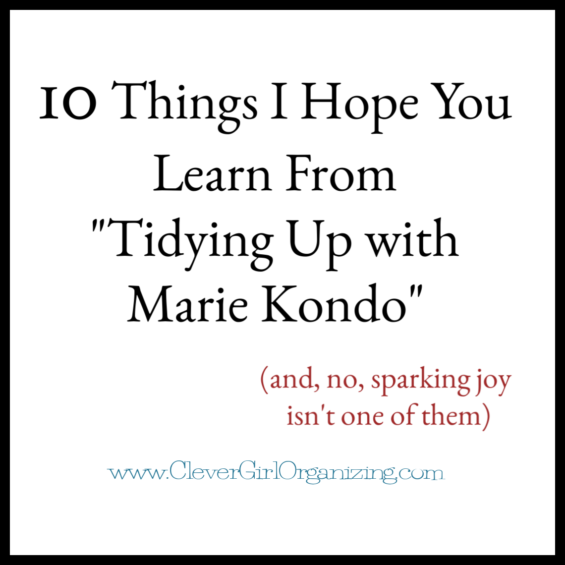 10 things Marie Kondo